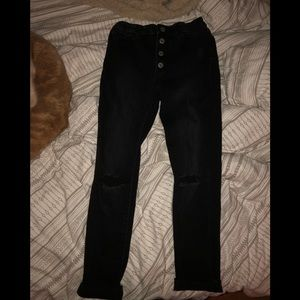 skinny black high rise jeans from gap KIDS